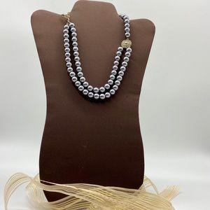NWOTS Dbl Strand Gray Pearls w/ Rhinestone Touch⭐️